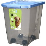 25 Lb. Van Ness Airtight Pet Food Storage Container on Wheels